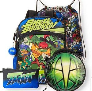 Teenage Mutant Ninja Turtles 5 Piece Backpack Set